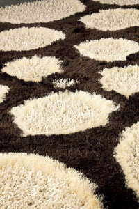 MAT Roca Pebbles Area Rug White Brown Sale