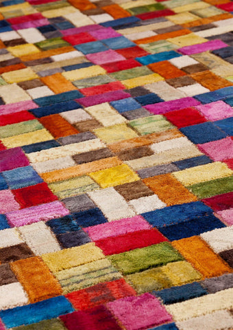 Vintage Luxury Contemporary patchwork Tufted Geometric Puzzle Multi Area Rug Carpet