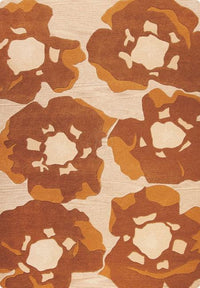 MAT Vinson Poppy Area Rug Brown