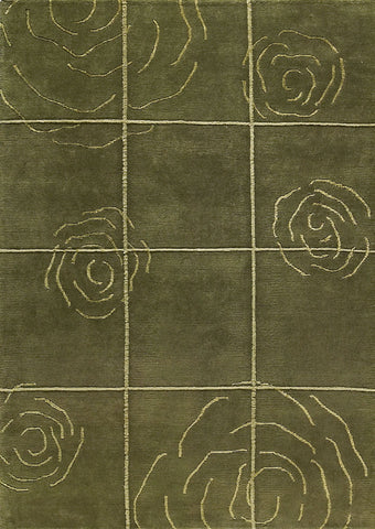 MAT Rose Area Rug Green Sale