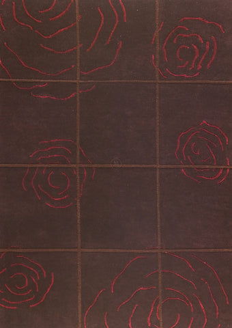 MAT Rose Area Rug Red Sale