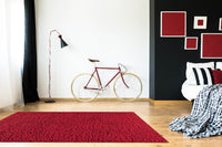 MAT Square Area Rug Red Sale