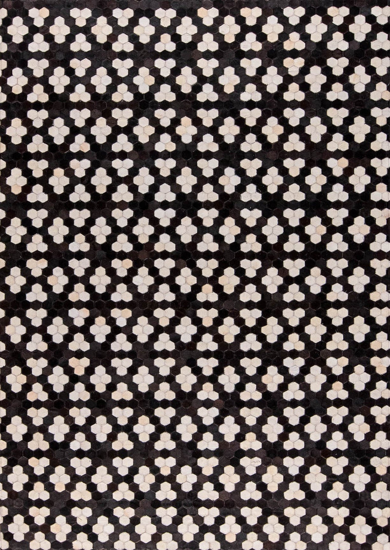 MAT Gau Star Area Rug Black/White