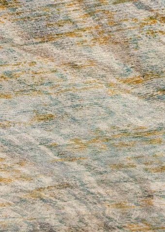 MAT Shah Torrance Area Rug Aqua/Orange