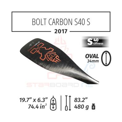 2017 STARBOARD SUP BOLT CARBON  WITH OVAL  CARBON S40 - S