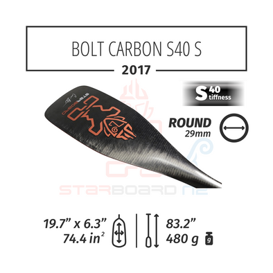2017 STARBOARD SUP BOLT CARBON WITH ROUND  CARBON S40 - S