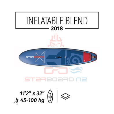 "2018 INFLATABLE SUP 11'2""x32""x5.5"" BLEND ZEN / DELUXE DC"