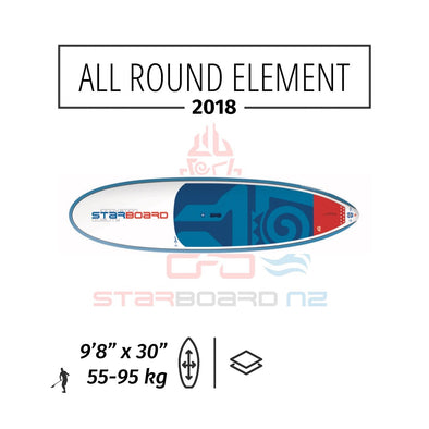 "2018 STARBOARD SUP ALL ROUND 9'8"" x 30"" ELEMENT"