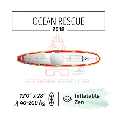 "2018 INFLATABLE SUP 12'0""x28""x6"" OCEAN RESCUE"