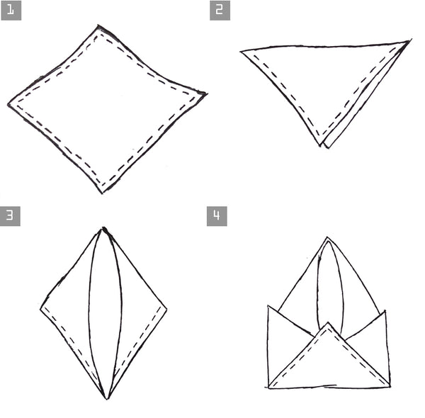 How to fold a pocket square - scallop fold