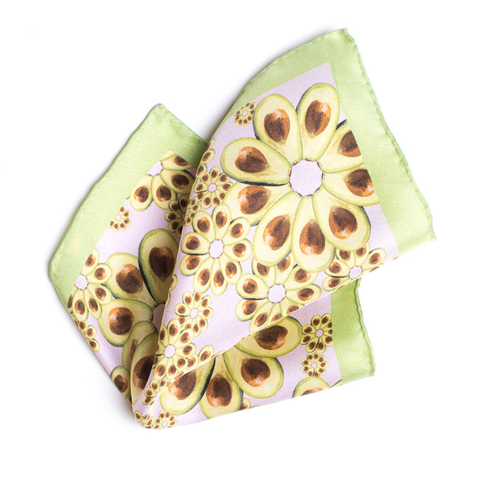 Eight Eight x Annabelle Lambie 'Avocados For Days' Silk Pocket Square