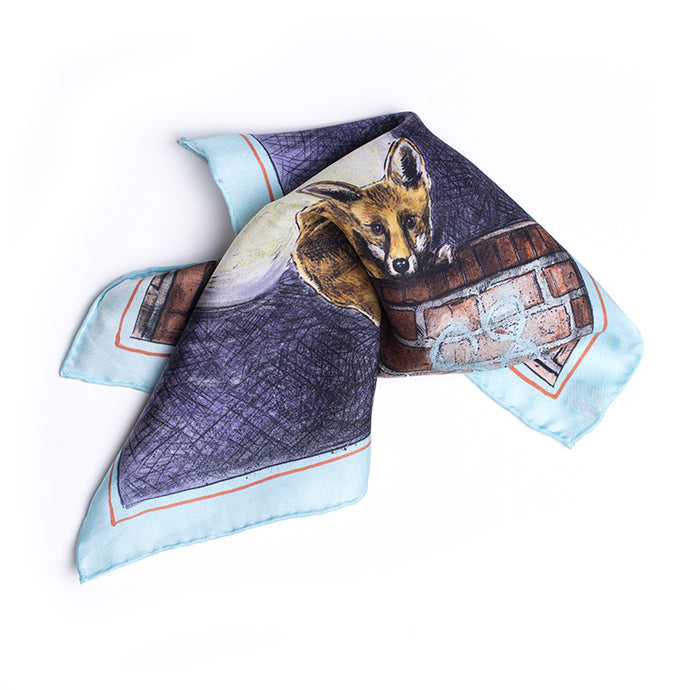 Eight Eight x Jonny Leigh 'Sly Fox' Silk Pocket Square