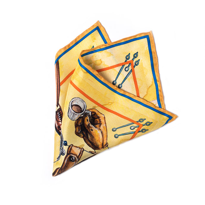 Eight Eight x Mathew Miller 'Worn & Wound' Silk Pocket Square
