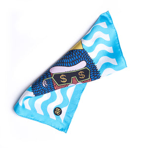 Eight Eight x Mulga 'Boss Man G' Silk Pocket Square