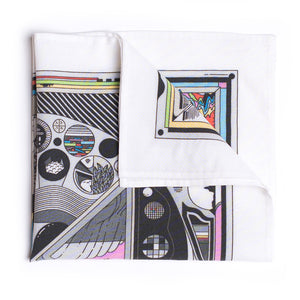 Eight Eight x Ori Toor 'Before TV' Bamboo Pocket Square