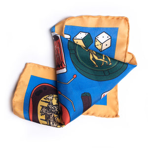 Eight Eight x Tiago Majuelos 'Favourite Things' Silk Pocket Square