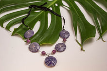 Purple flat Nakawa necklace