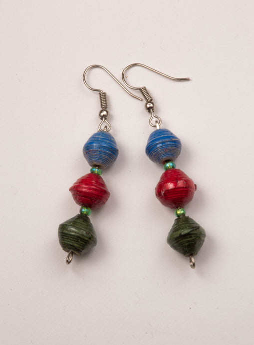 Three color earrings