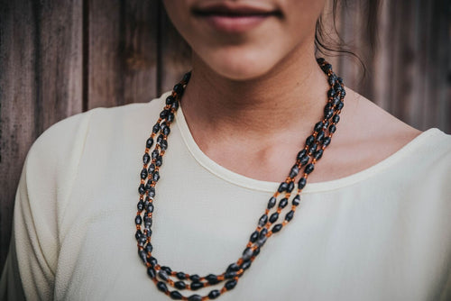 Black and Orange Gulu necklace