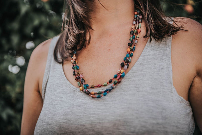 Red colorful Gulu necklace