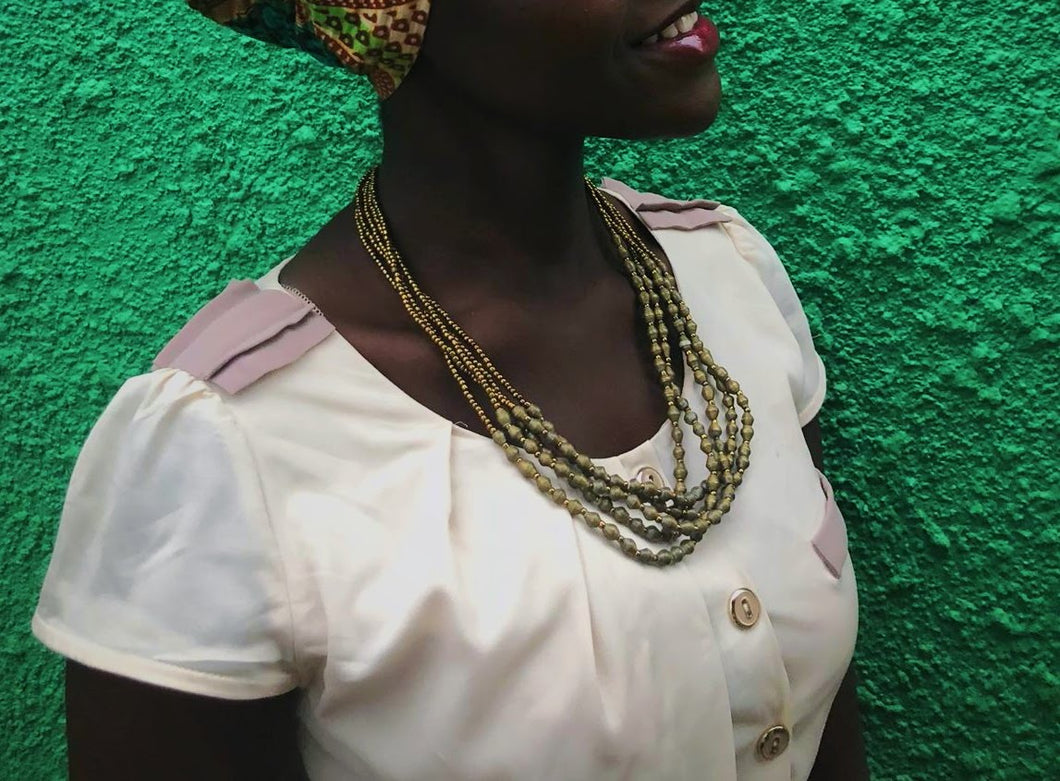 Gold gulu necklace