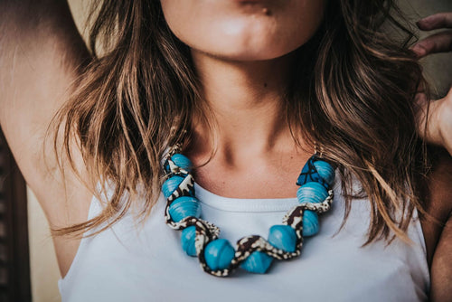 Light blue Nakasero necklace