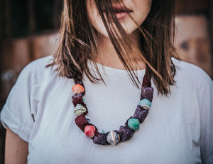 Purple colorful Nakasero necklace