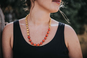 Red and yellow Mutai necklace