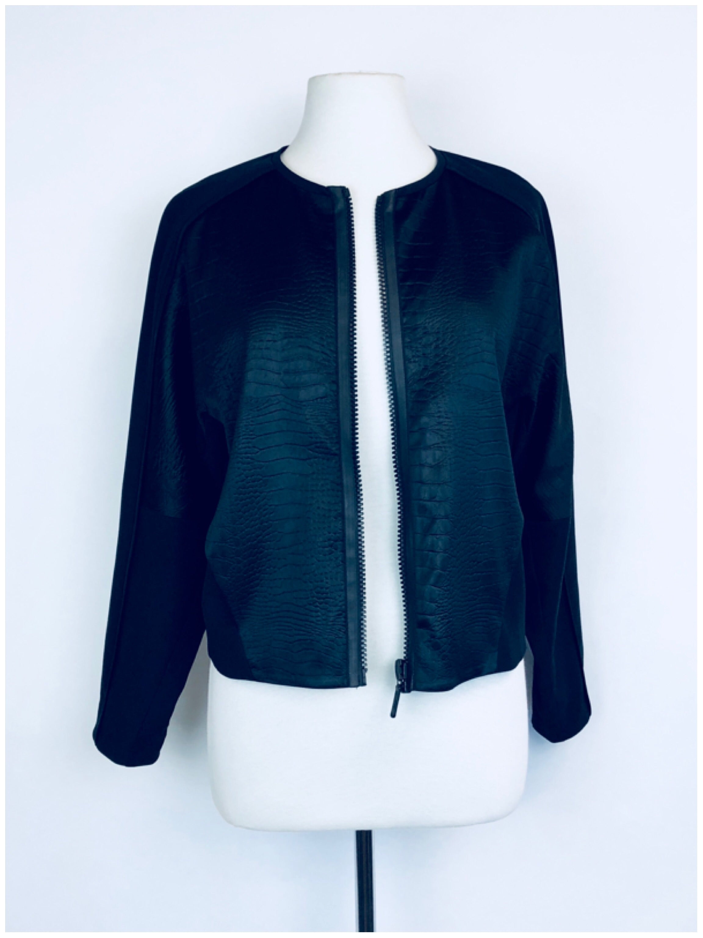 Ginger and Smart Black Leather Jacket & Pants Set