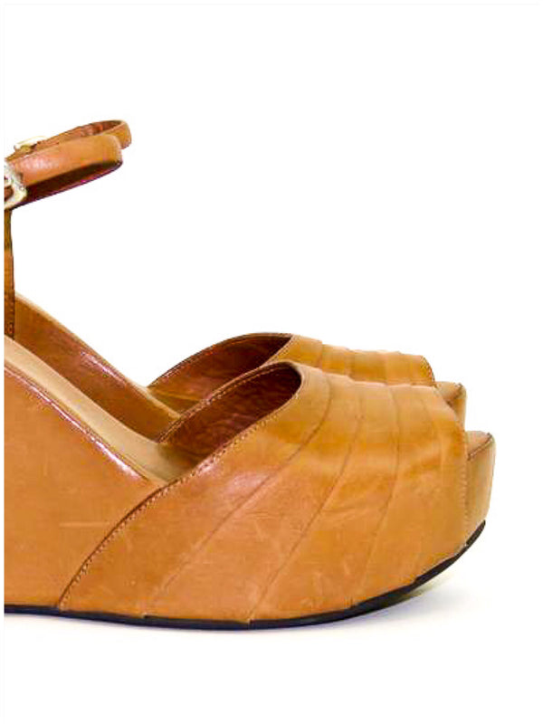 Roberto Del Carlo Tan Wedges