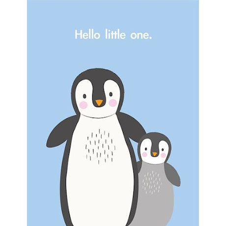 A6 Hello Little One Penguin Card