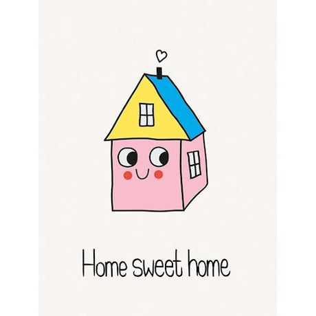 A6 Home Sweet Home Greeting Card