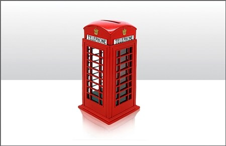 Telephone Box Money Box