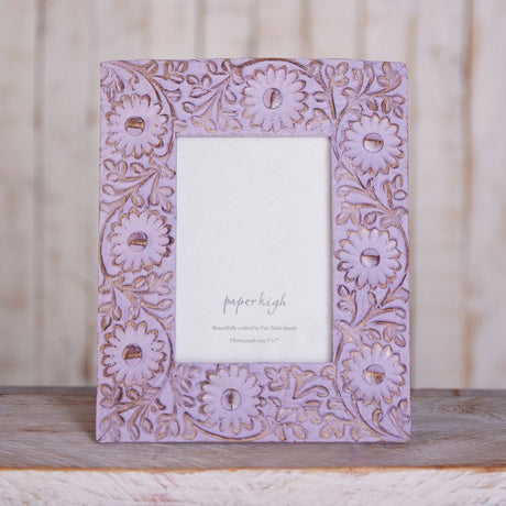 "Sura Lilac Flower Photo Frame - 5"" x 7"""