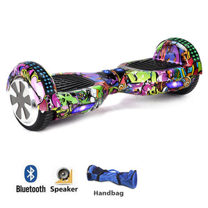 "Purple Graffiti 6.5"" Premium Segway Hoverboard"