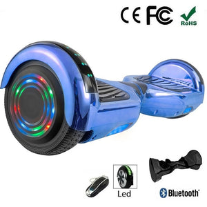 "2020 Blue 6.5"" Chrome Led Wheel Hoverboard"