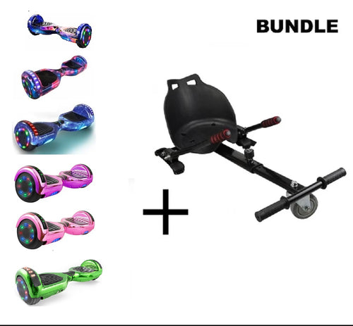 BUNDLE Sale!  Hoverboard With Led Wheel+HoverKart