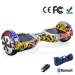 "Yellow Graffiti 6.5"" Premium Segway Hoverboard"