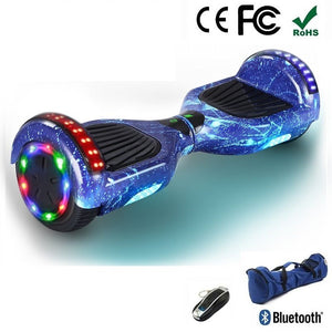 "2020 New Blue Starry Sky 6.5"" Led Wheel Hoverboard"