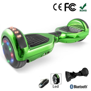 "Sale! 2020 Green 6.5"" Chrome Led Wheel Hoverboard"