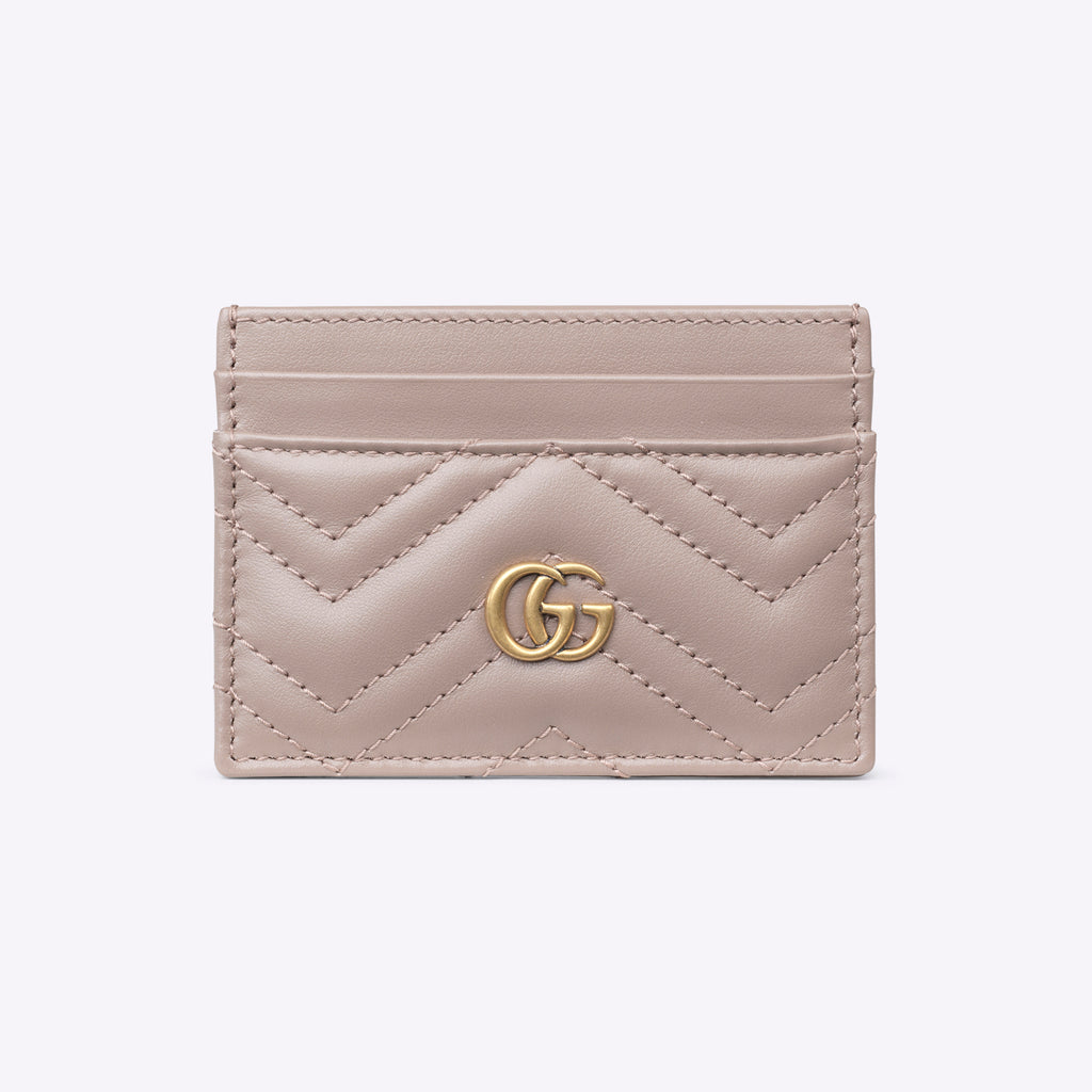 GG Marmont card case Dusty Pink