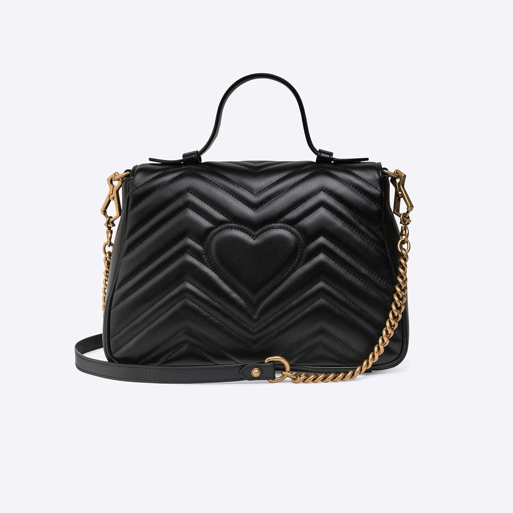 Gucci GG Marmont mini top handle bag - Black