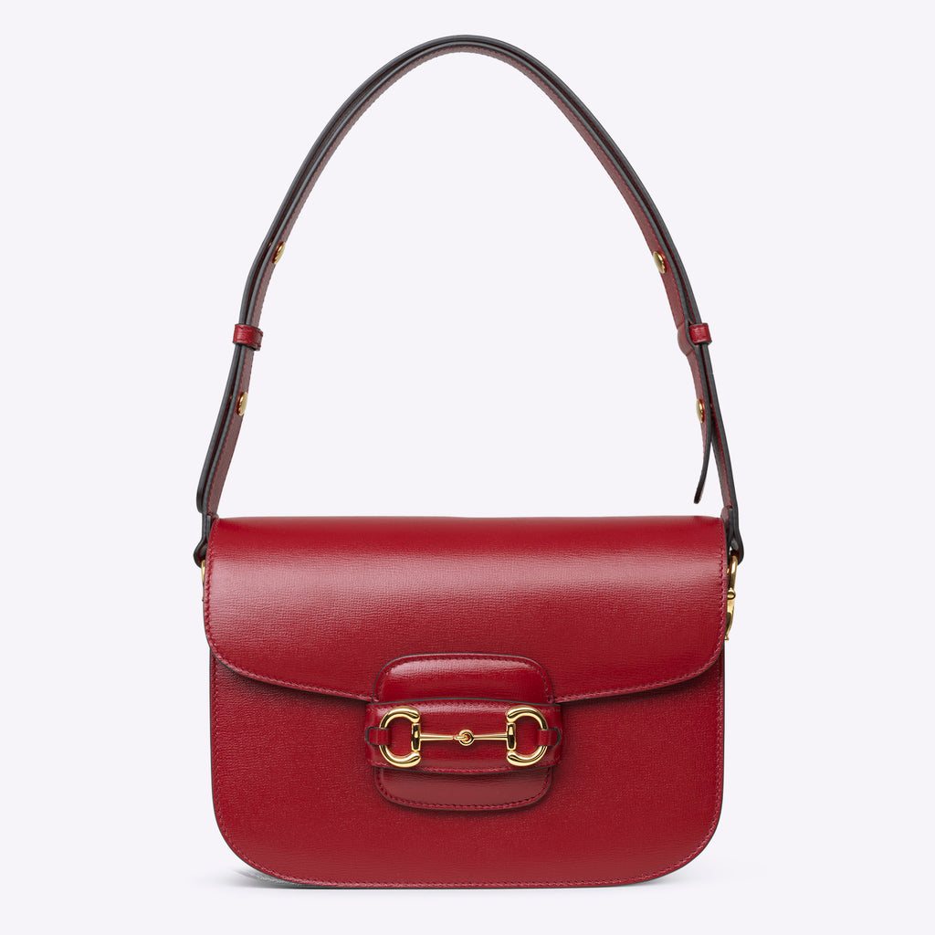 Gucci 1955 Horsebit shoulder bag - red