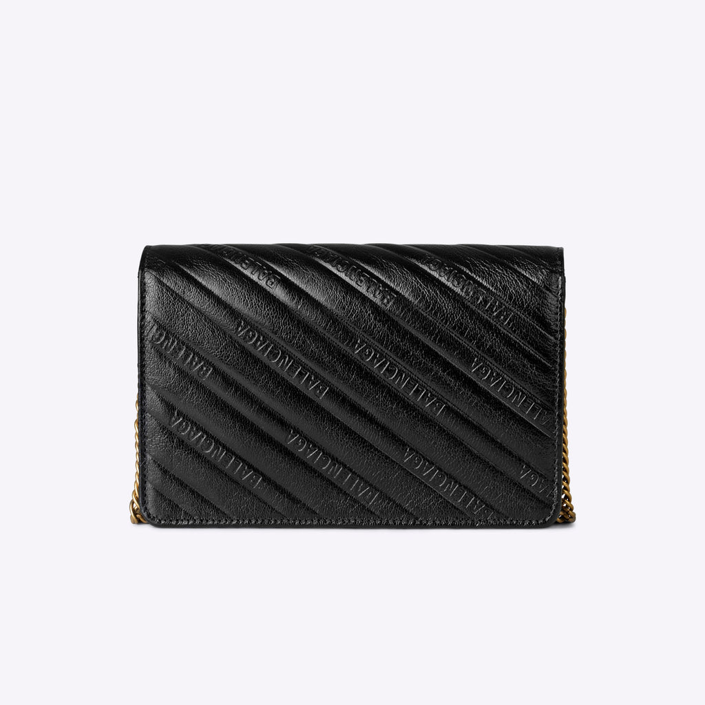 Balenciaga BB Wallet on Chain - Black