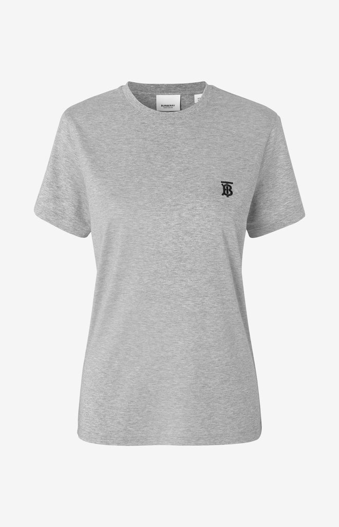 Parker Monogram Motif Cotton T-shirt - Grey