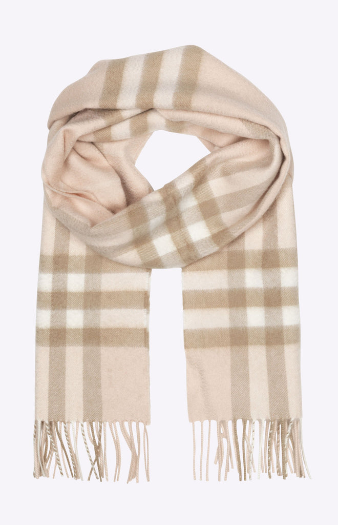 Burberry The Classic Check Cashmere Scarf - Pale blush