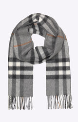 Burberry The Classic Check Cashmere Scarf - Grey