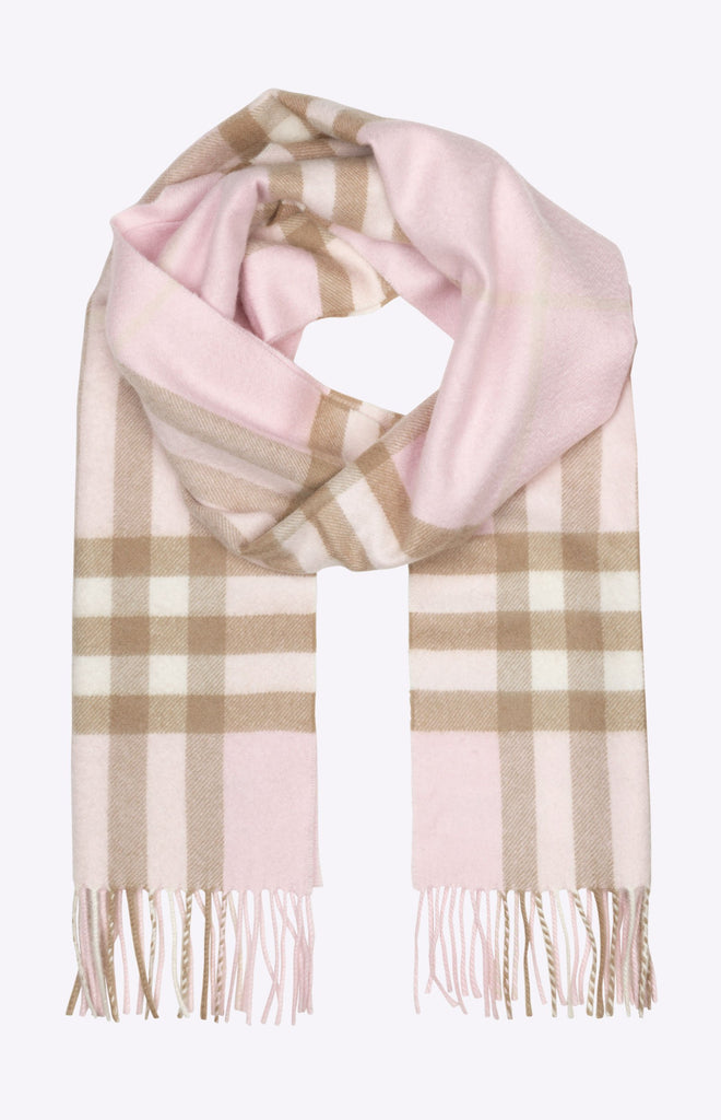 Burberry The Classic Check Cashmere Scarf - Alabaster