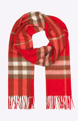 Burberry The Classic Check Cashmere Scarf - Bright Red