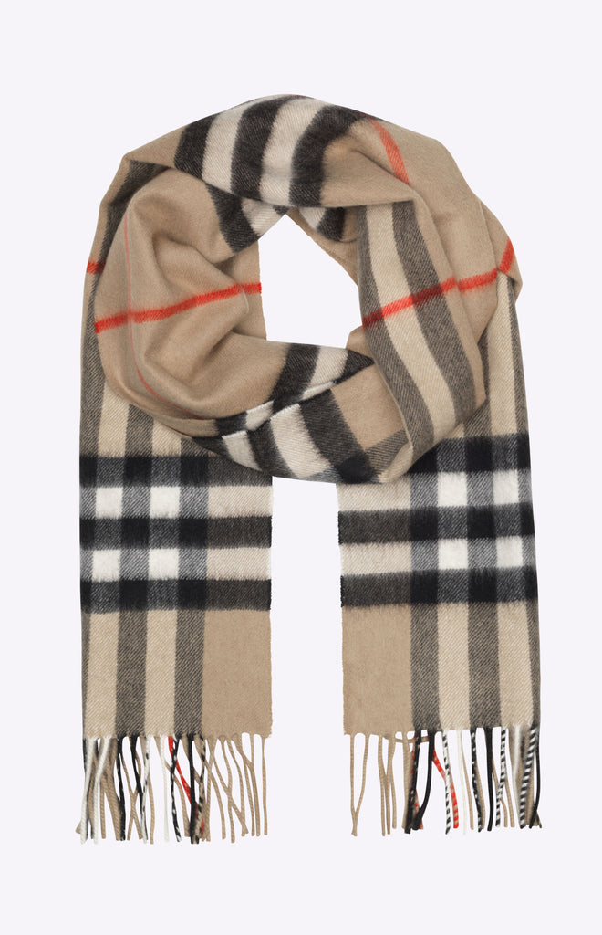 Burberry The Classic Check Cashmere Scarf - Archive beige